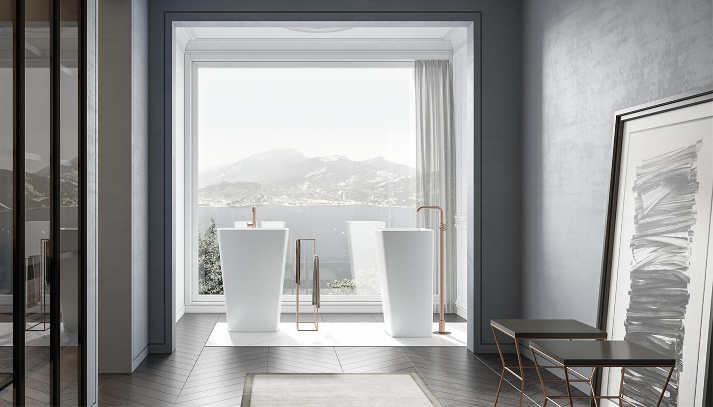 Lavabo A Colonna Design edoné - lavabi a colonna e lavamani - dorico | edoné