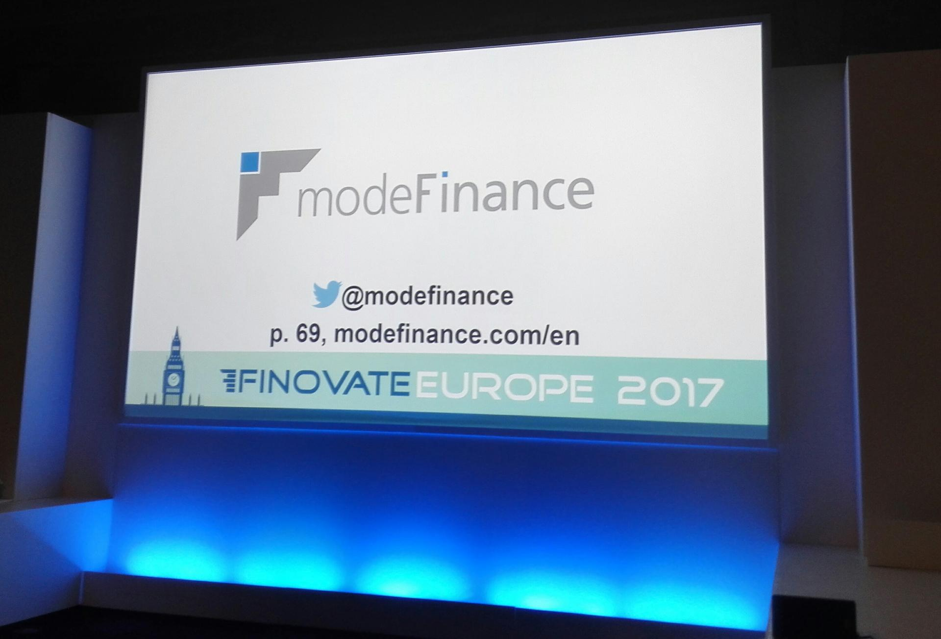 Finovate Europe 2017 modeFinance 3